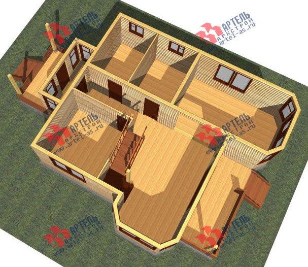 двухэтажный дом из бруса площадью от 150 до 200 кв. м. с  балконом, мансардой, террасой, эркером, проект Вариант 8 К-3 фотография 2462