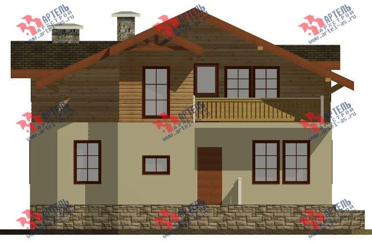 двухэтажный дом из камня площадью от 150 до 200 кв. м. с  балконом, эркером, проект Вариант 26 фотография 2827