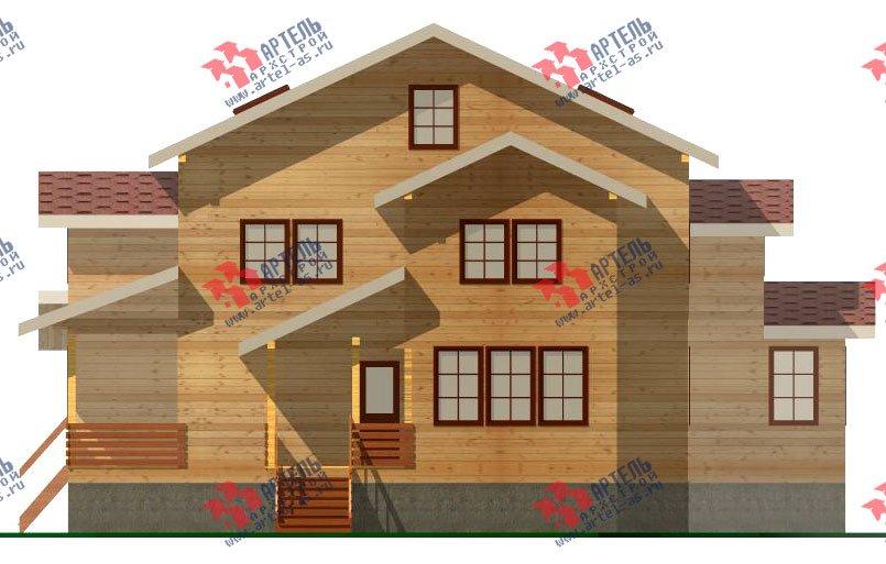 двухэтажный дом из бруса площадью свыше 200 кв. м. с  мансардой, террасой, проект Вариант 11.1 А фотография 2580