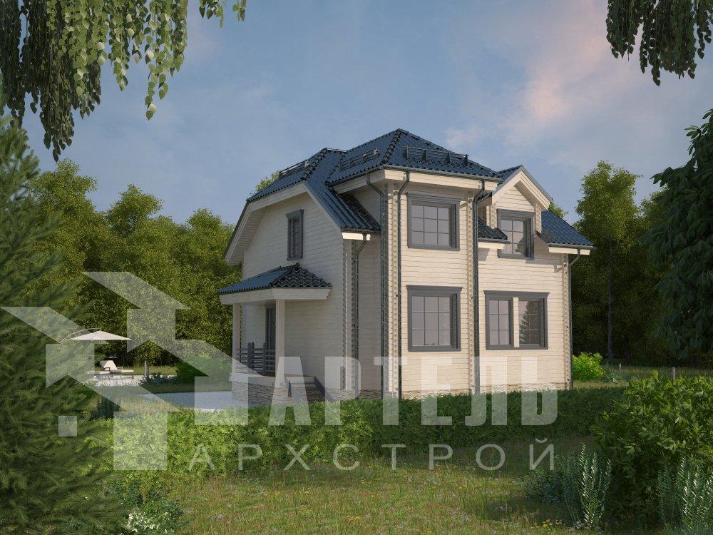двухэтажный дом из профилированного бруса площадью от 100 до 150 кв. м. с  мансардой, эркером, проект Вариант 8 Т фотография 5937