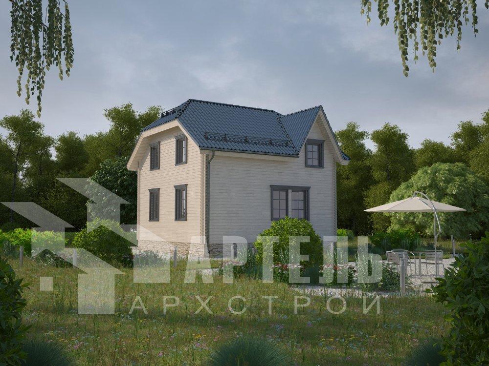 двухэтажный дом из профилированного бруса площадью от 100 до 150 кв. м. с  мансардой, эркером, проект Вариант 8 Т фотография 5940