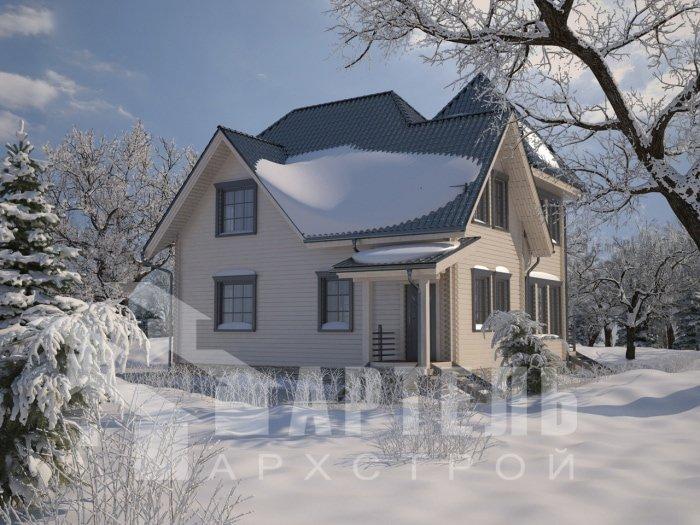 двухэтажный дом из профилированного бруса площадью от 150 до 200 кв. м. с  балконом, мансардой, проект Вариант 9 К фотография 4759