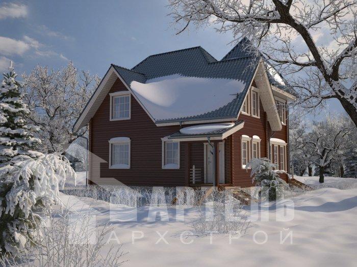 двухэтажный дом из профилированного бруса площадью от 150 до 200 кв. м. с  балконом, мансардой, проект Вариант 9 К фотография 4765