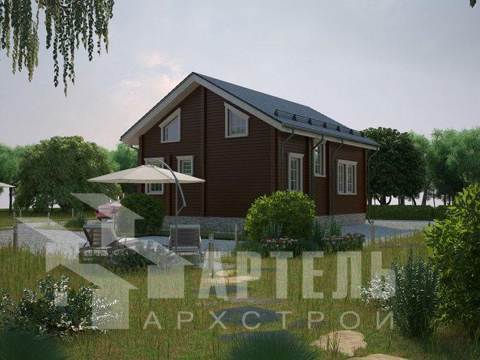 двухэтажный дом из профилированного бруса площадью от 100 до 150 кв. м. с  балконом, проект Вариант 9.5 К фотография 4740
