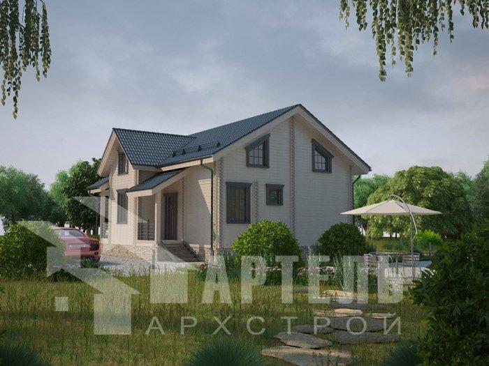 двухэтажный дом из профилированного бруса площадью от 100 до 150 кв. м. с  балконом, проект Вариант 9.5 К фотография 4733