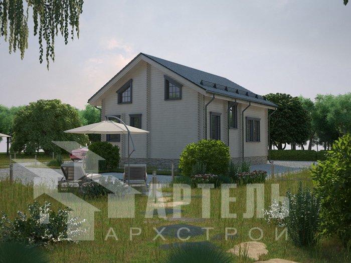 двухэтажный дом из профилированного бруса площадью от 100 до 150 кв. м. с  балконом, проект Вариант 9.5 К фотография 4734