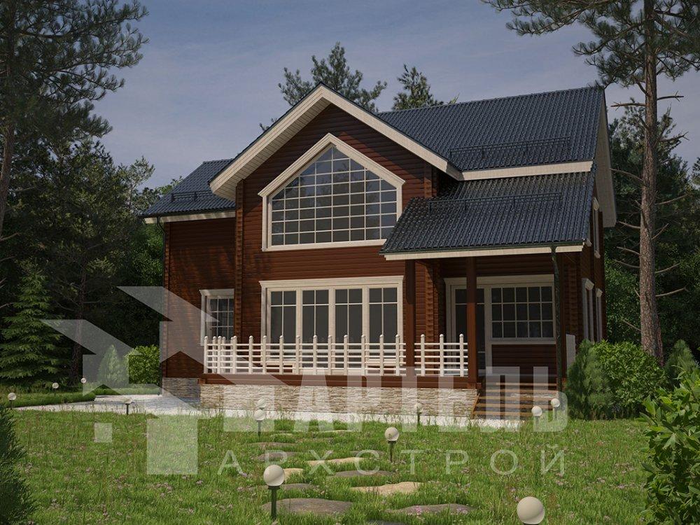 двухэтажный дом из профилированного бруса площадью от 150 до 200 кв. м. с  мансардой, террасой, проект Вариант 9.5 Т фотография 4575