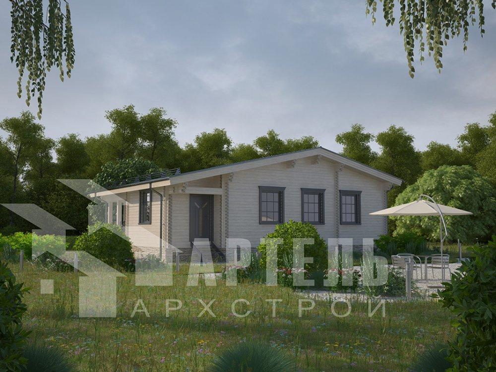 одноэтажный дом из профилированного бруса площадью от 100 до 150 кв. м. с  террасой, проект Вариант 9.8 К фотография 4056