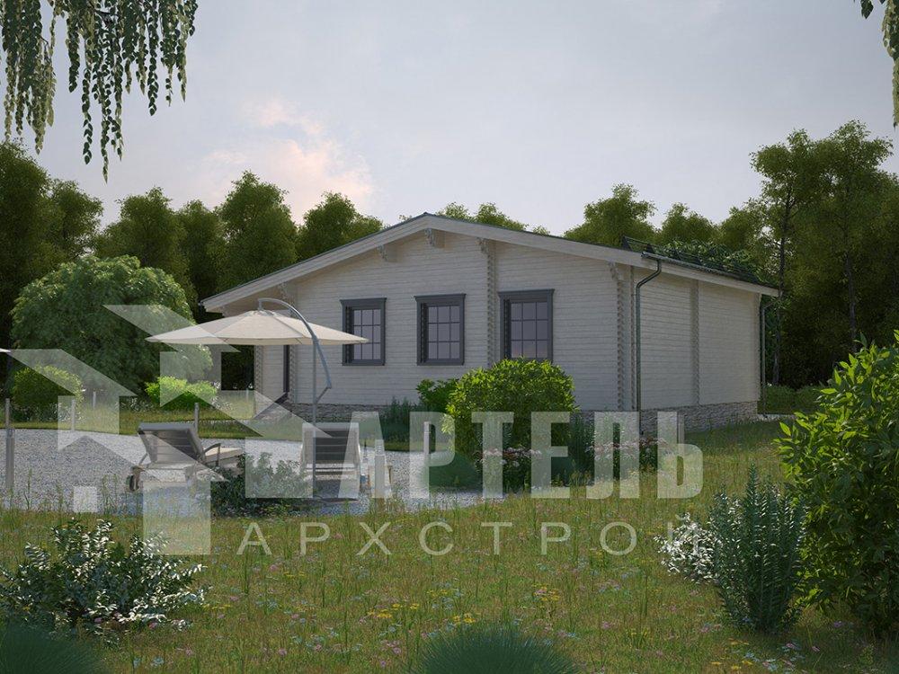 одноэтажный дом из профилированного бруса площадью от 100 до 150 кв. м. с  террасой, проект Вариант 9.8 К фотография 4055
