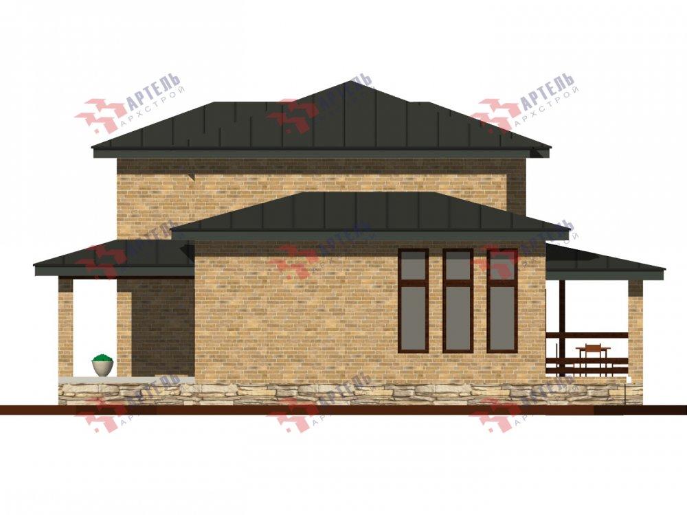 дом омбинированные дома площадью от 150 до 200 кв. м. с  мансардой, проект Вариант 13,5Б Камень и Комбинированный фотография 6122
