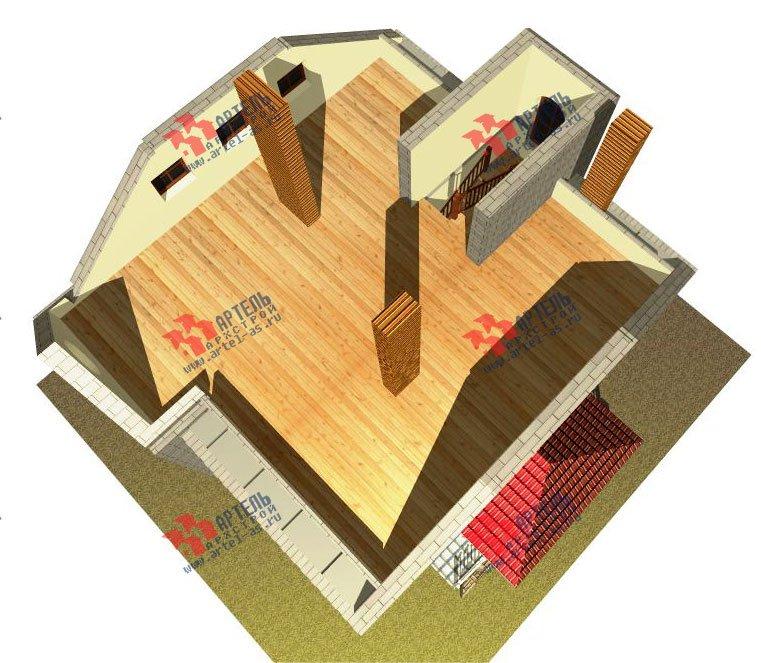 двухэтажный дом из камня площадью свыше 200 кв. м., проект Вариант 8 фотография 524