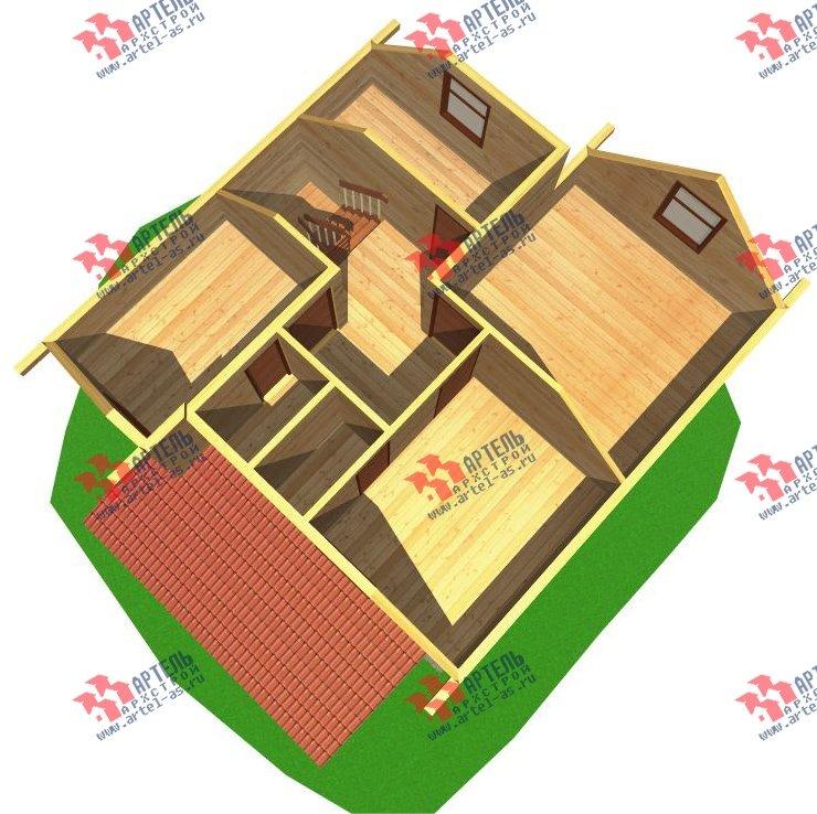 двухэтажный дом из бруса площадью от 100 до 150 кв. м. с  мансардой, эркером, проект Вариант 8.2 А фотография 2175