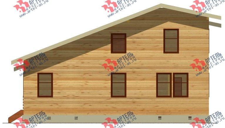 двухэтажный дом из бруса площадью свыше 200 кв. м. с  балконом, проект Вариант 10.7 А фотография 2250