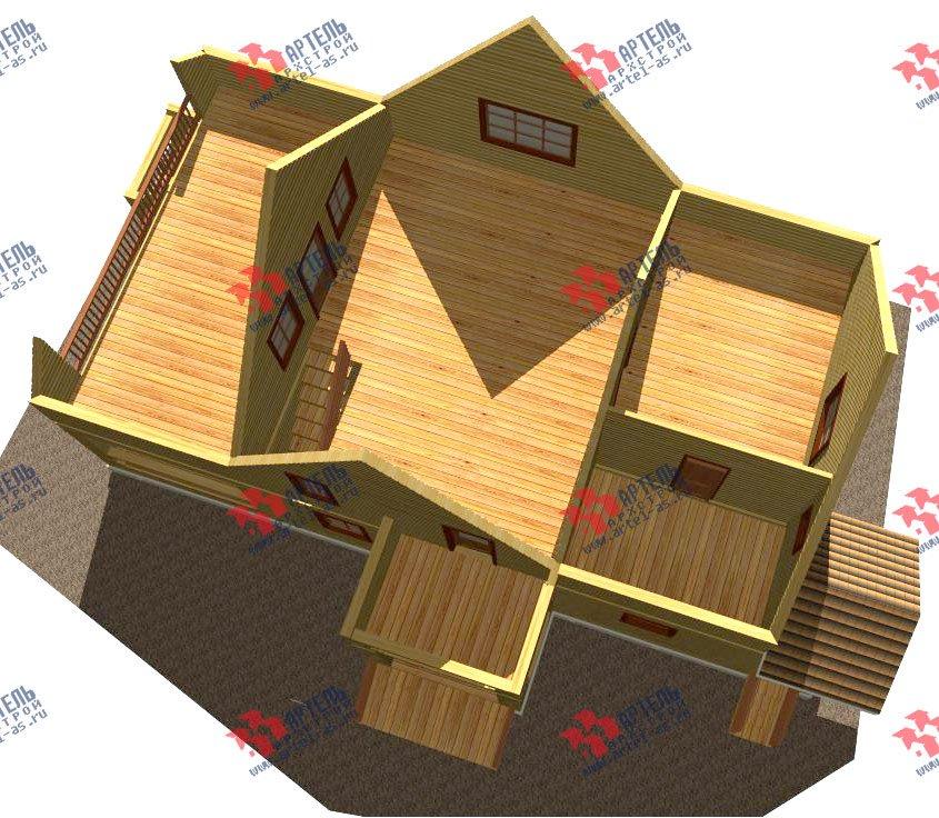 двухэтажный дом из бруса площадью свыше 200 кв. м. с  балконом, террасой, проект Вариант 8 Г-1 фотография 2486