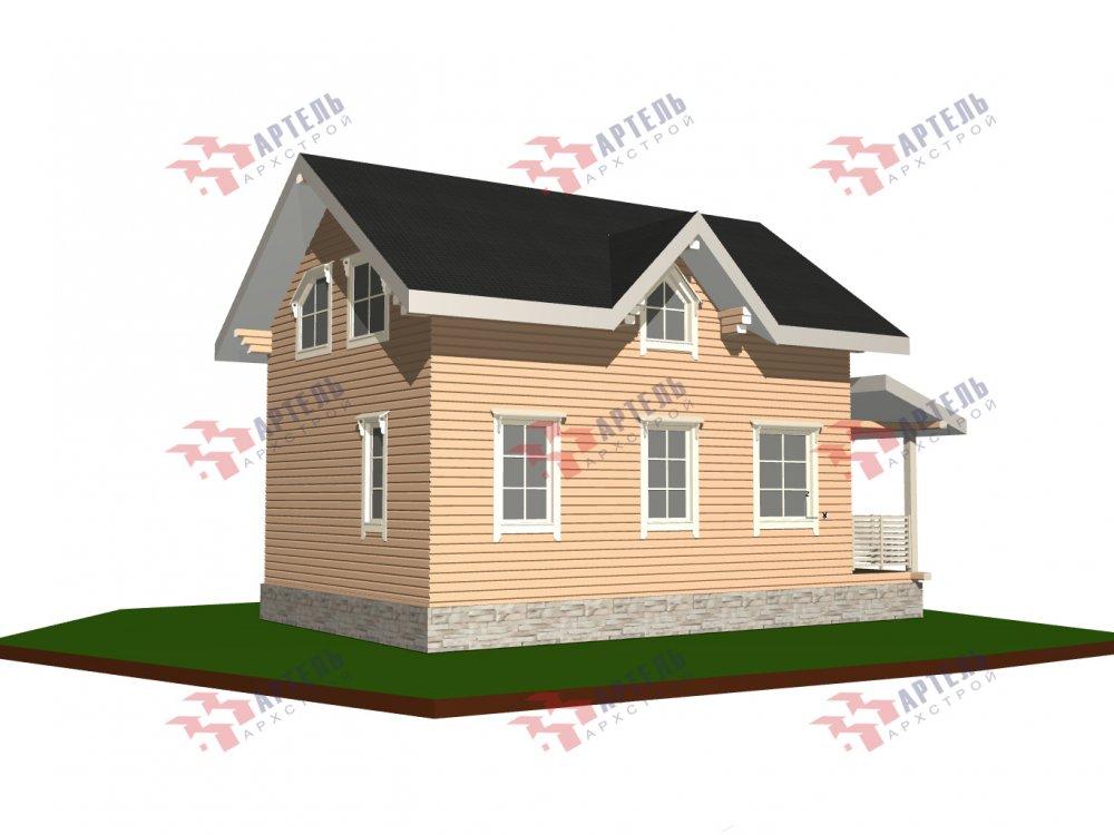 дом из профилированного бруса с  мансардой, проект Вариант 9.6М фотография 6532