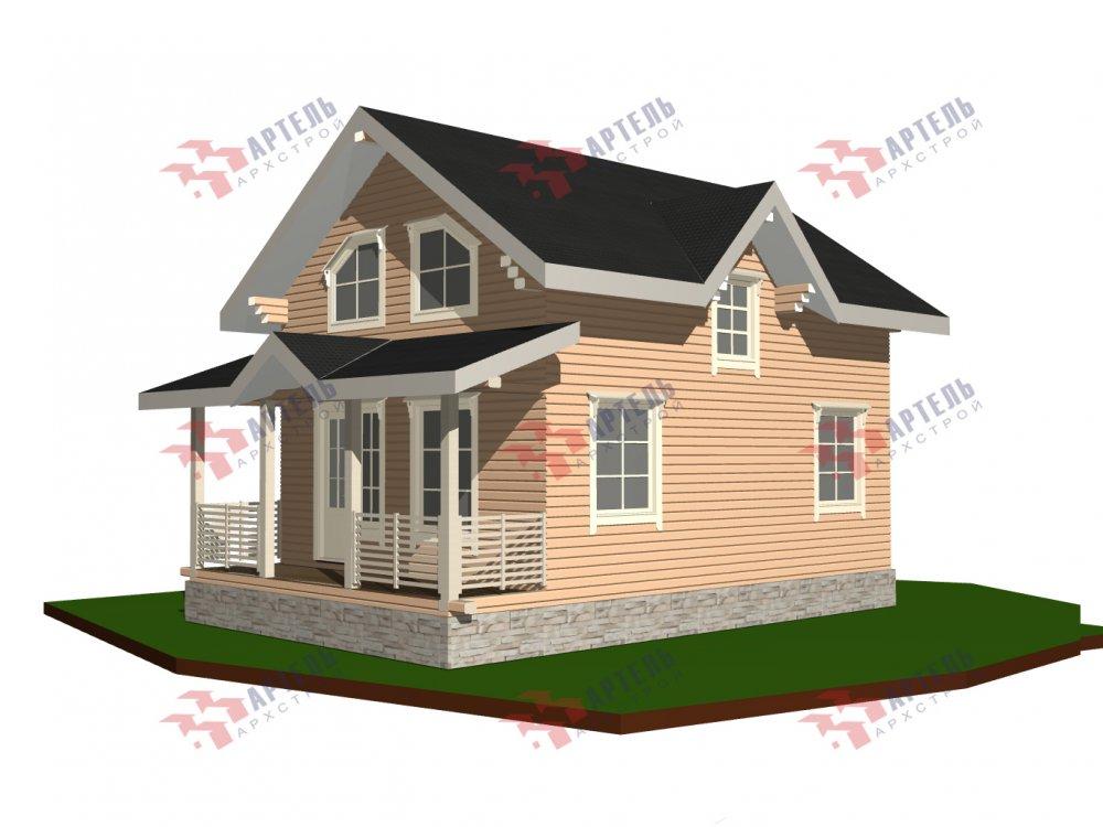 дом из профилированного бруса с  мансардой, проект Вариант 9.6М фотография 6533