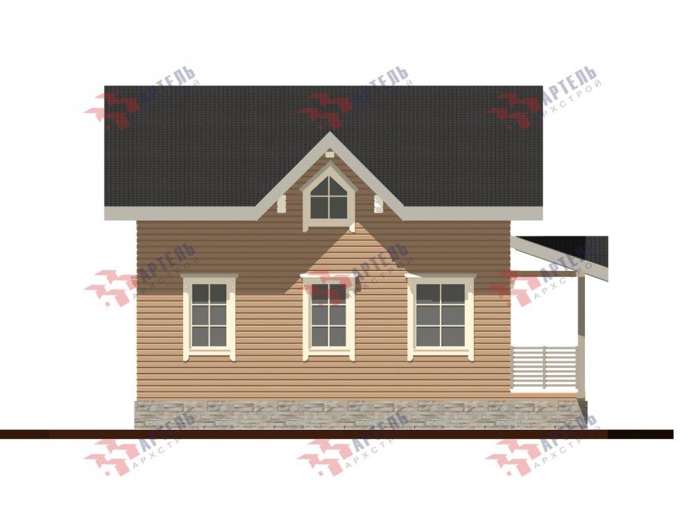 дом из профилированного бруса с  мансардой, проект Вариант 9.6М фотография 6535