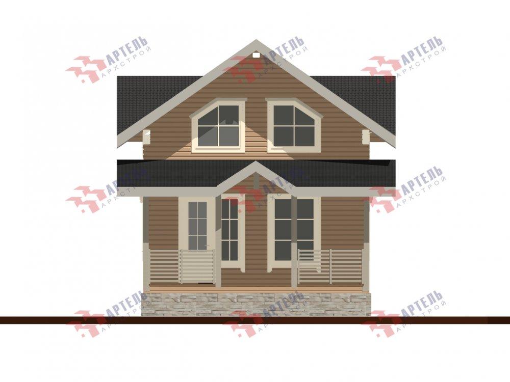 дом из профилированного бруса с  мансардой, проект Вариант 9.6М фотография 6537