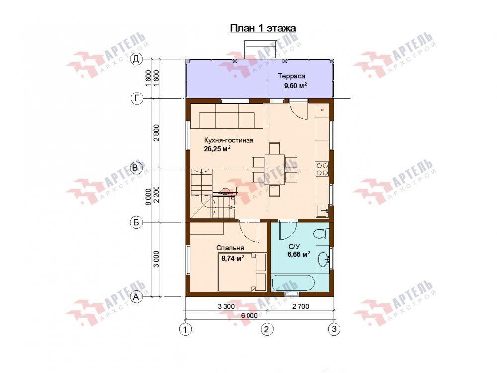 дом из профилированного бруса с  мансардой, проект Вариант 9.6М фотография 6538
