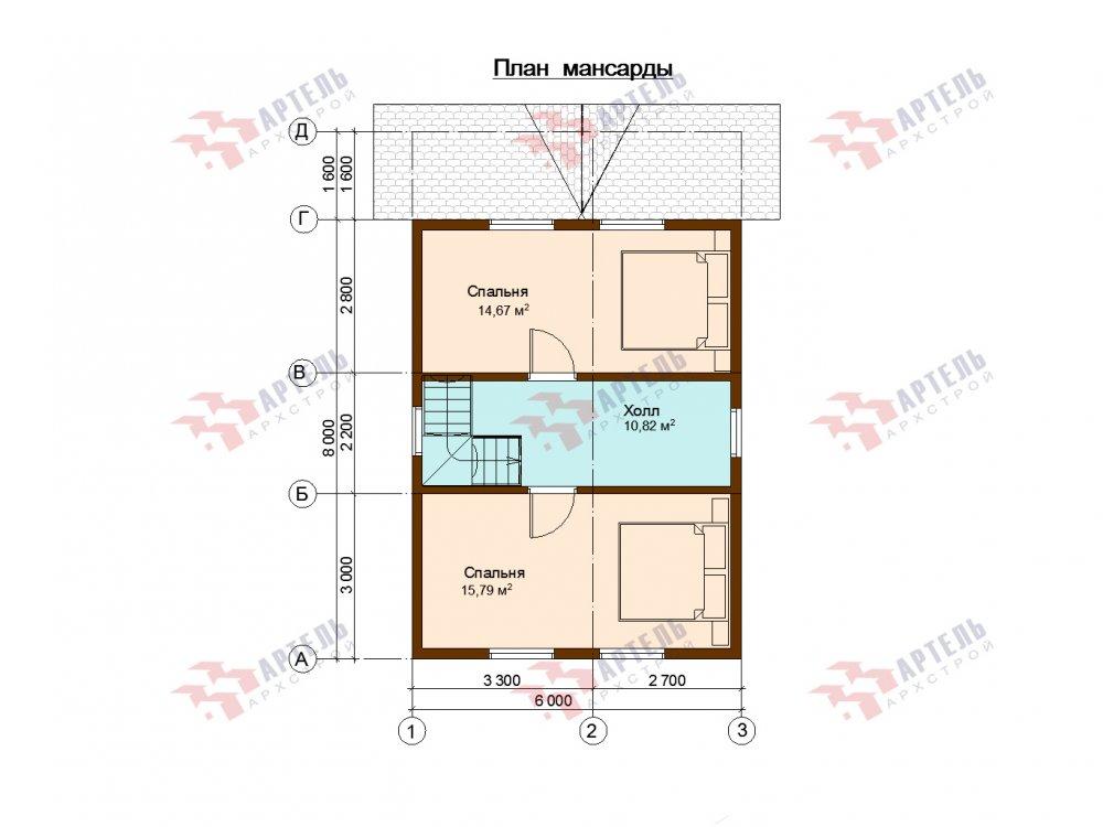 дом из профилированного бруса с  мансардой, проект Вариант 9.6М фотография 6539
