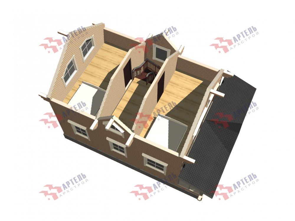 дом из профилированного бруса с  мансардой, проект Вариант 9.6М фотография 6541