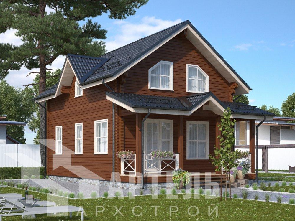 дом из профилированного бруса с  мансардой, проект Вариант 9.6М фотография 6520