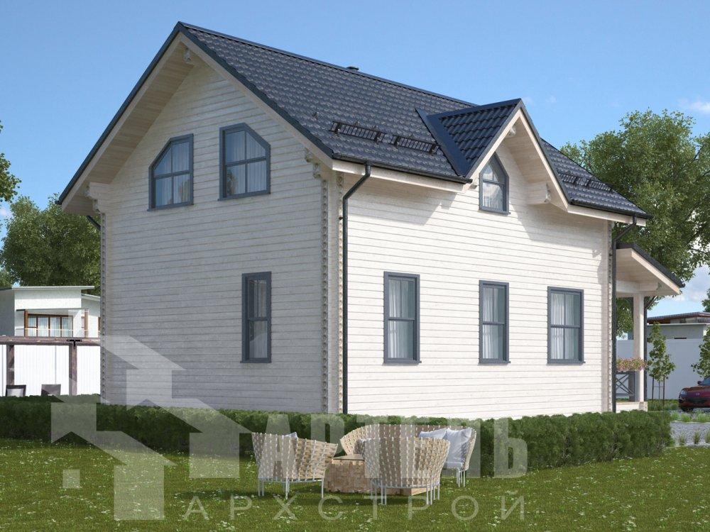 дом из профилированного бруса с  мансардой, проект Вариант 9.6М фотография 6529