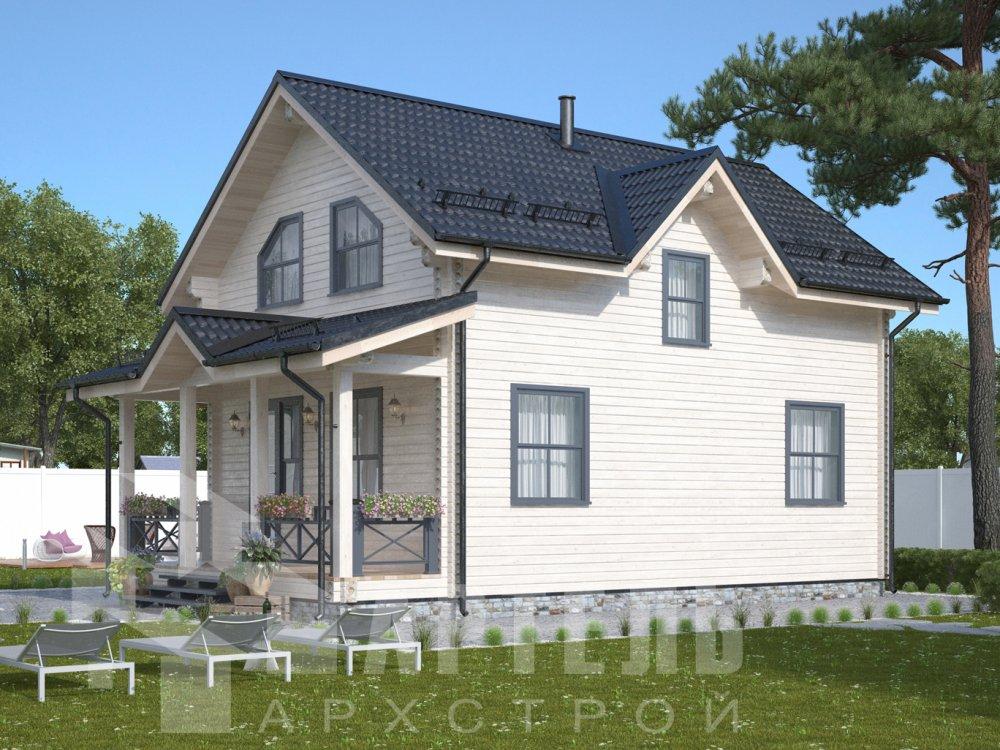 дом из профилированного бруса с  мансардой, проект Вариант 9.6М фотография 6530