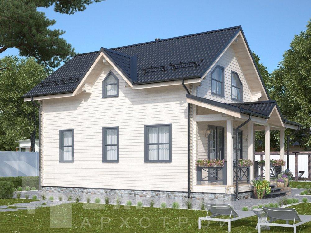 дом из профилированного бруса с  мансардой, проект Вариант 9.6М фотография 6531
