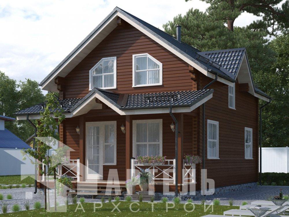 дом из профилированного бруса с  мансардой, проект Вариант 9.6М фотография 6521