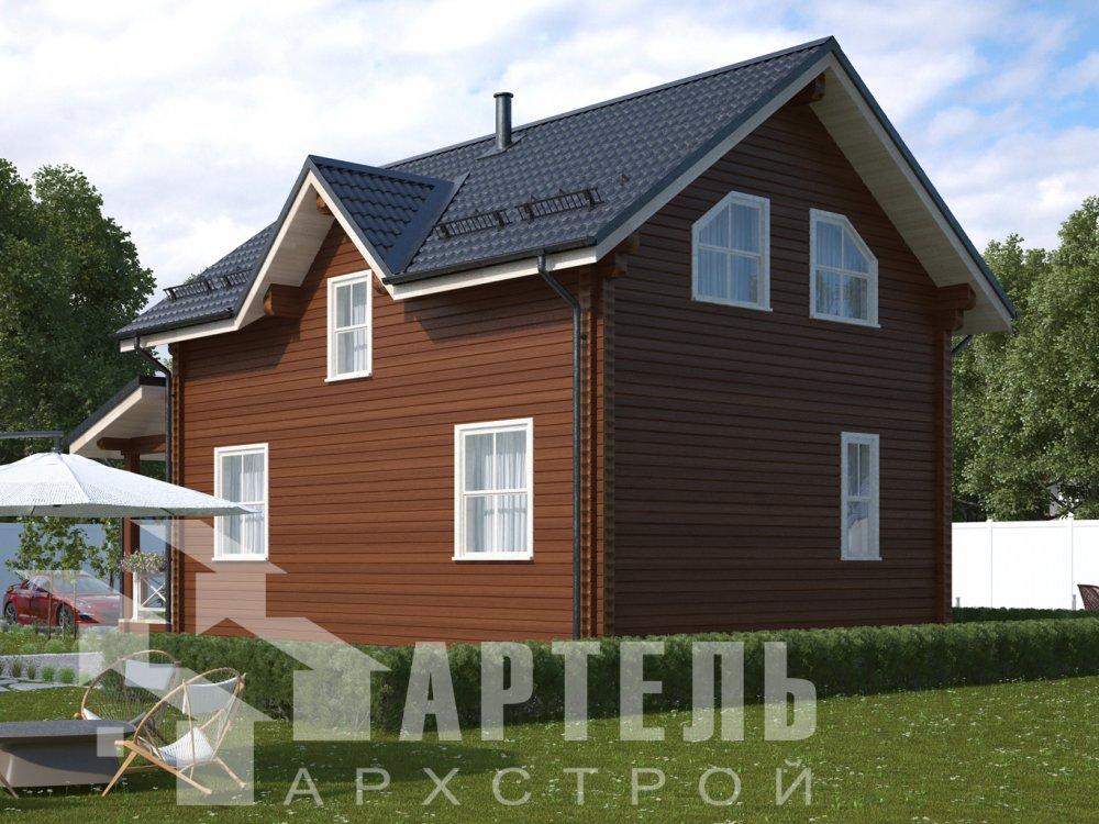 дом из профилированного бруса с  мансардой, проект Вариант 9.6М фотография 6522