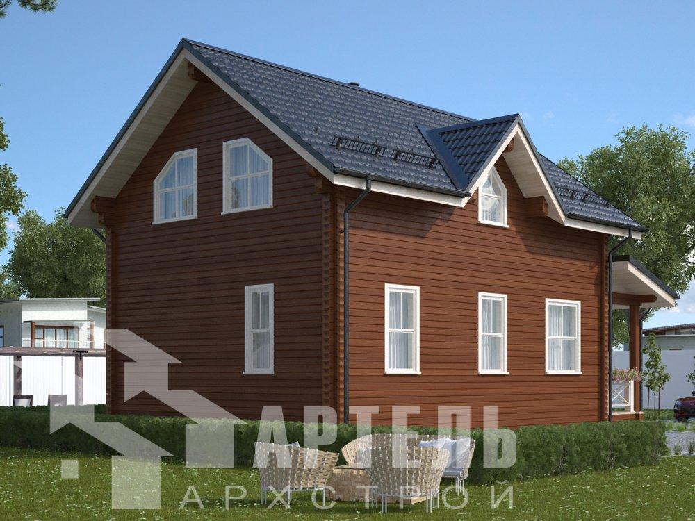 дом из профилированного бруса с  мансардой, проект Вариант 9.6М фотография 6523