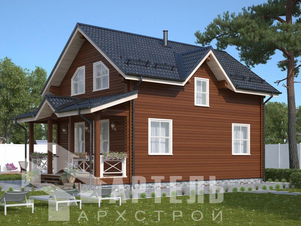 дом из профилированного бруса с  мансардой, проект Вариант 9.6М фотография 6524