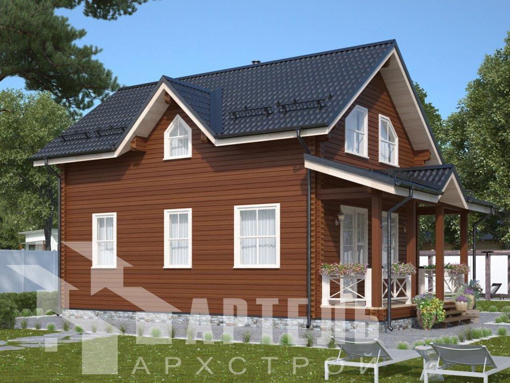 дом из профилированного бруса с  мансардой, проект Вариант 9.6М фотография 6525