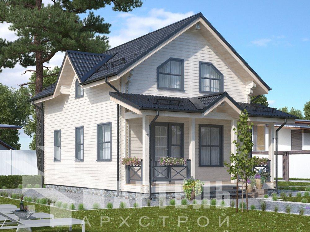 дом из профилированного бруса с  мансардой, проект Вариант 9.6М фотография 6526