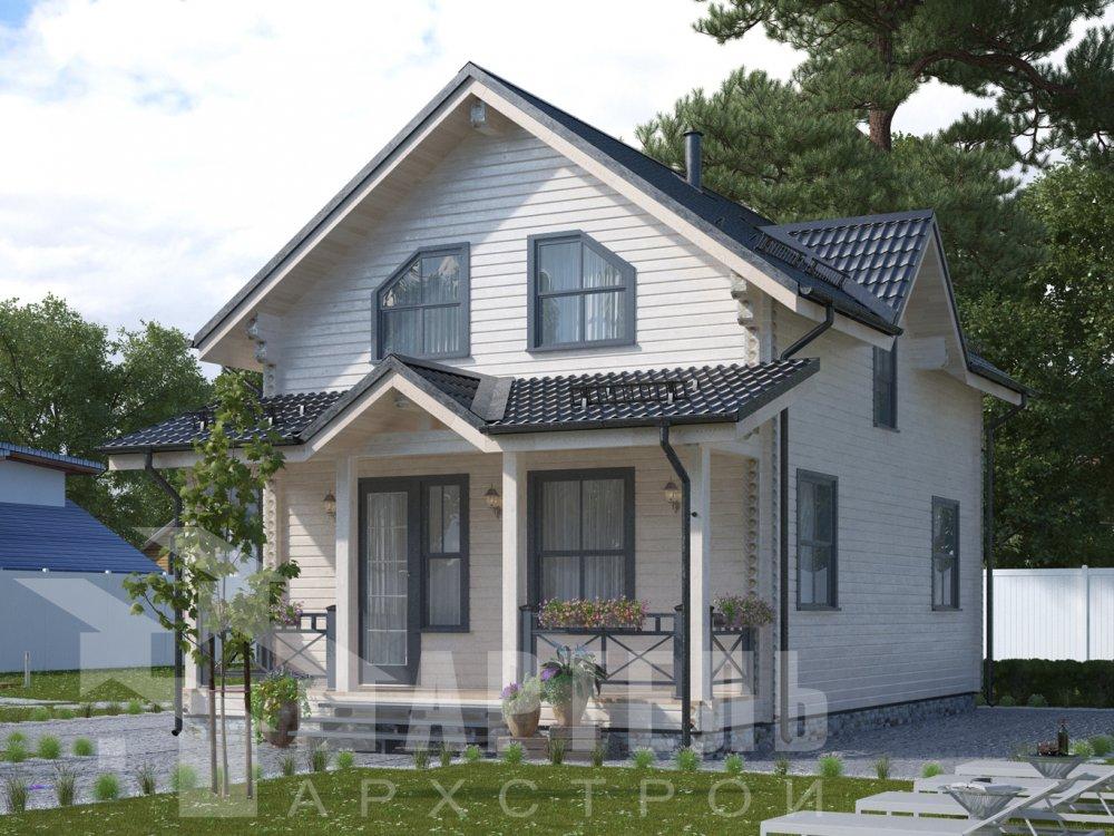 дом из профилированного бруса с  мансардой, проект Вариант 9.6М фотография 6527