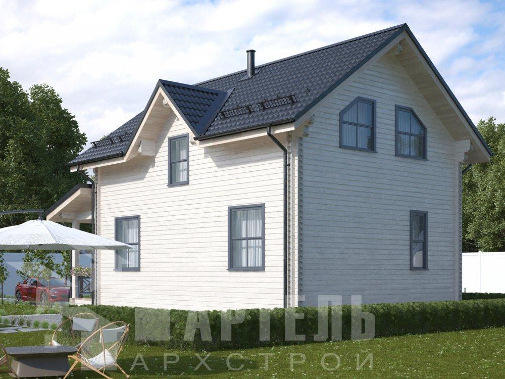 дом из профилированного бруса с  мансардой, проект Вариант 9.6М фотография 6528