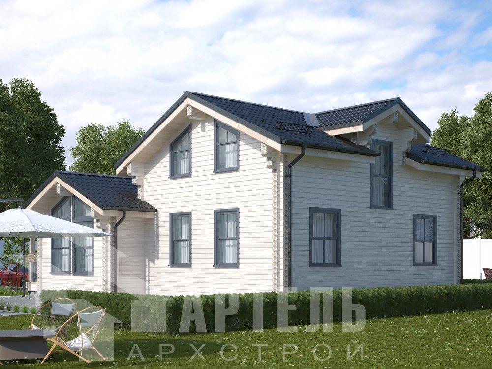 двухэтажный дом из профилированного бруса площадью от 100 до 150 кв. м., проект Вариант 13.3 А фотография 6584