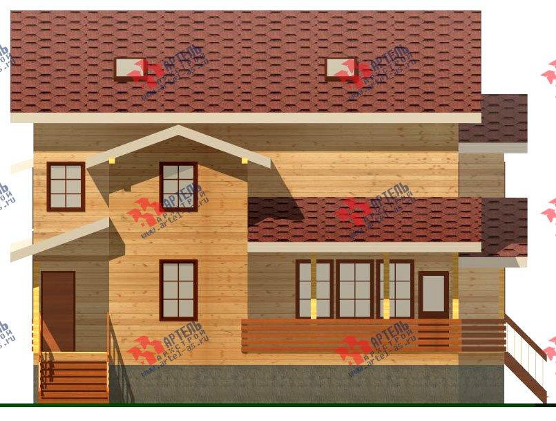 двухэтажный дом из бруса площадью свыше 200 кв. м. с  мансардой, террасой, проект Вариант 11.1 А фотография 2581