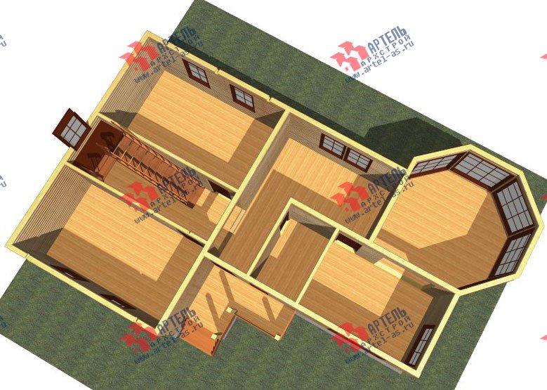 двухэтажный дом из профилированного бруса площадью от 150 до 200 кв. м. с  балконом, мансардой, эркером, проект Вариант 9 Е-1 фотография 2593