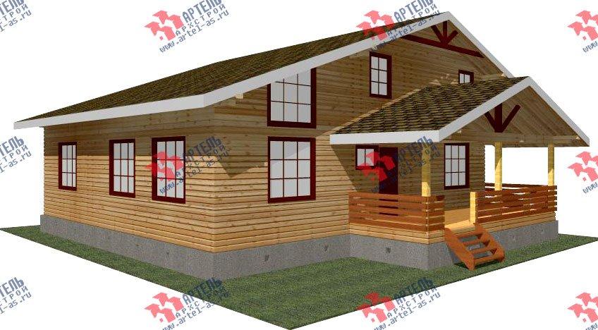 двухэтажный дом из бруса площадью свыше 200 кв. м. с  мансардой, террасой, проект Вариант 11 Л-1 фотография 2626