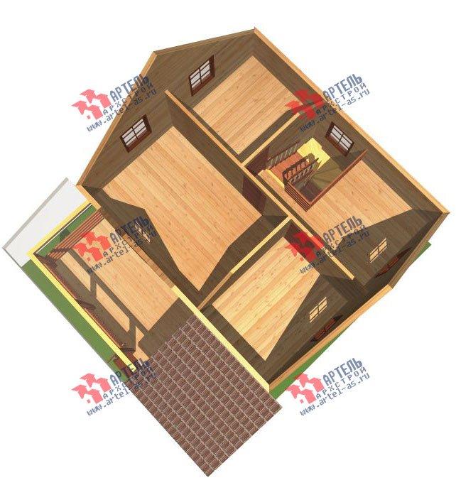 двухэтажный дом из профилированного бруса площадью от 100 до 150 кв. м. с  террасой, проект Вариант 7.2 А фотография 2662