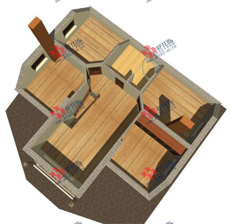 двухэтажный дом из камня площадью свыше 200 кв. м. с  верандой, проект Вариант 22 фотография 2697
