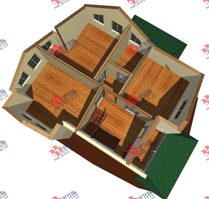 двухэтажный дом из профилированного бруса камерной сушки площадью от 100 до 150 кв. м. с  мансардой, проект Вариант 6 фотография 2788