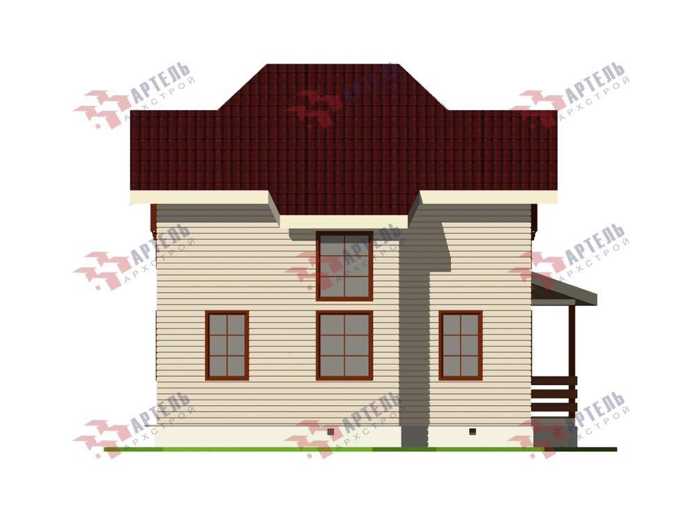 двухэтажный дом из профилированного бруса площадью от 100 до 150 кв. м. с  мансардой, террасой, эркером, проект Вариант 9.3 А фотография 5922