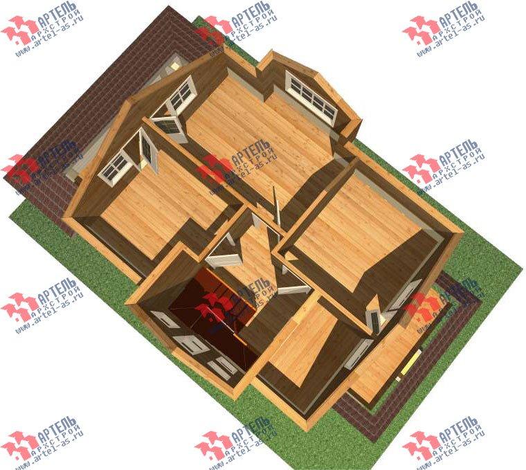 двухэтажный дом из профилированного бруса камерной сушки площадью от 100 до 150 кв. м. с  балконом, террасой, эркером, проект Вариант 9 фотография 2995