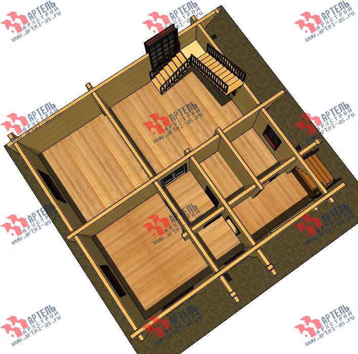 трёхэтажный дом из оцилиндрованного бревна площадью свыше 200 кв. м. с  балконом, террасой, проект Вариант 5 фотография 3078