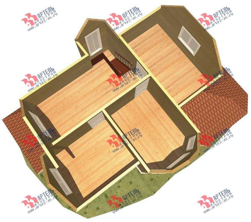 двухэтажный дом из бруса площадью от 150 до 200 кв. м. с  эркером, проект Вариант 11.2 В фотография 3157