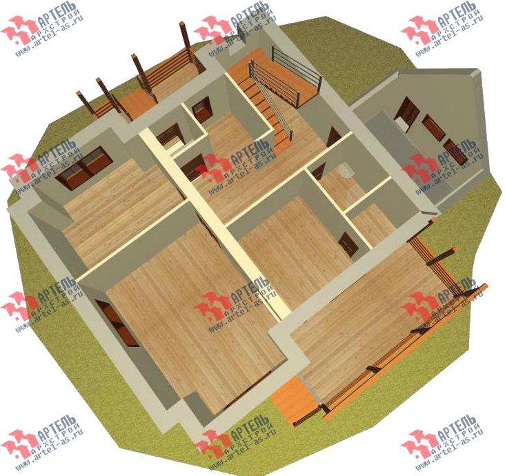 двухэтажный дом из камня площадью свыше 200 кв. м. с  террасой, проект Вариант 29 фотография 3178