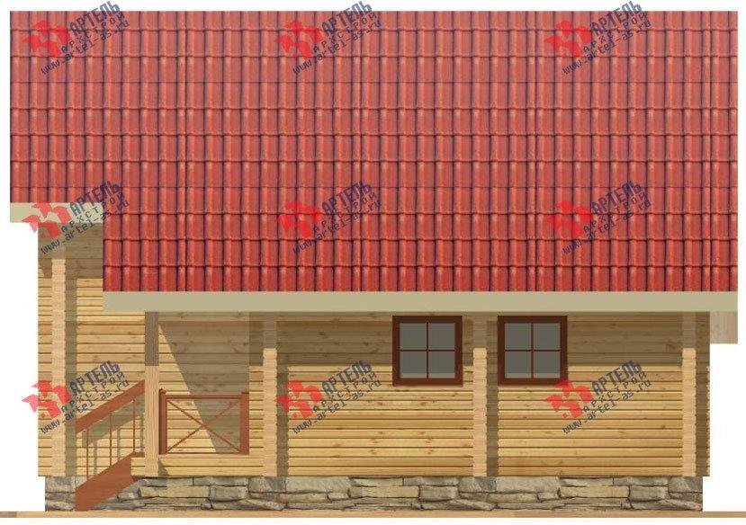 двухэтажный дом из профилированного бруса площадью от 150 до 200 кв. м. с  мансардой, террасой, проект Вариант 8.3 А фотография 3231